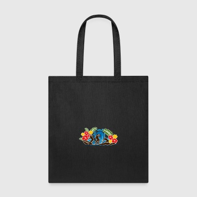 Stand up paddle tshirt WAVE complete - Tote Bag