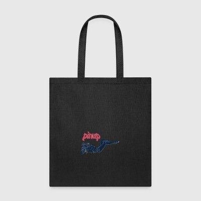 pinup_girl_talking_with_phone_vintage - Tote Bag