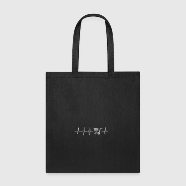 Heartbeat shopping cart - Tote Bag