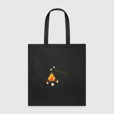 Campfire with marshmallows - Tote Bag