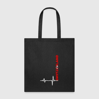 Heartbeat Switzerland font gift - Tote Bag