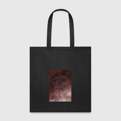 grunge background with skull - Tote Bag