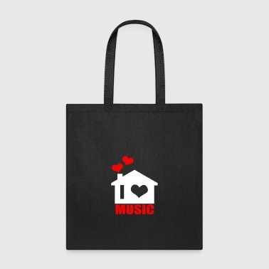 I Love House Music - Tote Bag