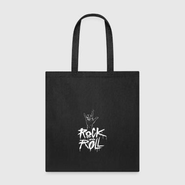 Rock and Roll Hand (White) - Tote Bag