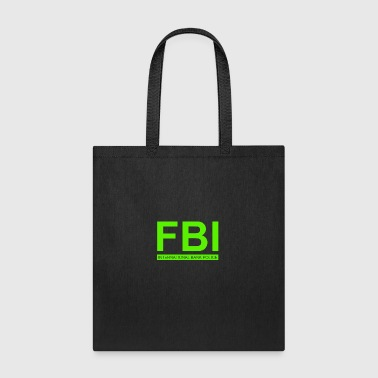 Mens FBI Print Casual Slim - Tote Bag