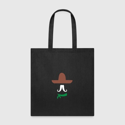 Ladies Sombrero Funny retro Mexico Mustache design - Tote Bag