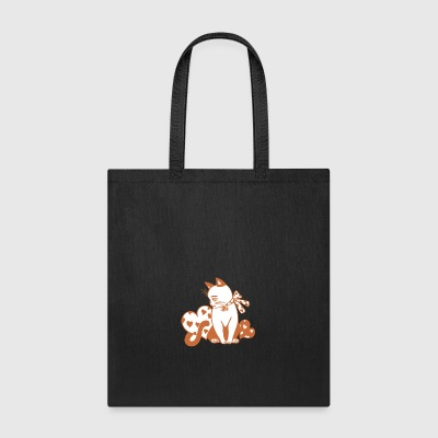 Valentine Cat with Hearts - Tote Bag
