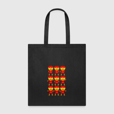 Dance of the pixel men - Tote Bag