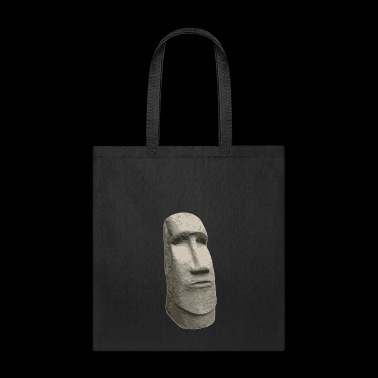 Brown Stone Easter Island Carved Moai Head - Tote Bag