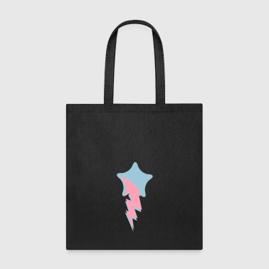 shooting star red with lightning comet - Tote Bag