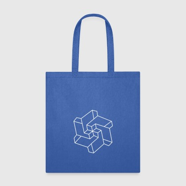 Optical illusion - Chakra symbol - Geometry Art - Tote Bag