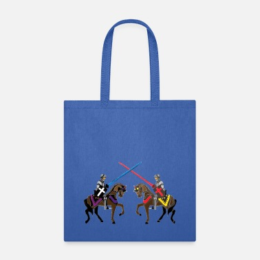 Full Colour Armour jousting knights medieval  patjila2  - Tote Bag
