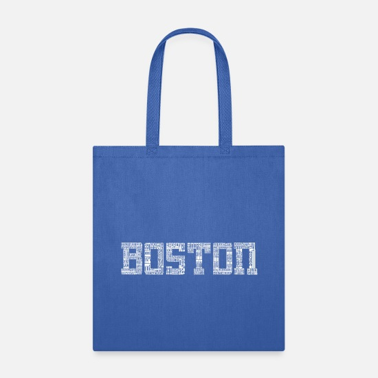 Boston Bags & Backpacks - Boston by Words Clothing Apparel T-Shirts - Tote Bag royal blue