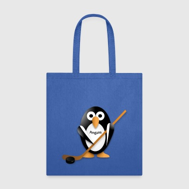 Penguin with a hockey stick - Tote Bag