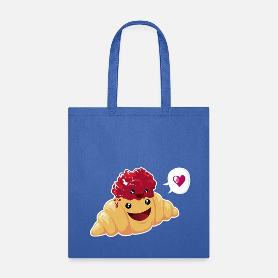 Food Bags & Backpacks - breakfast love - Tote Bag royal blue