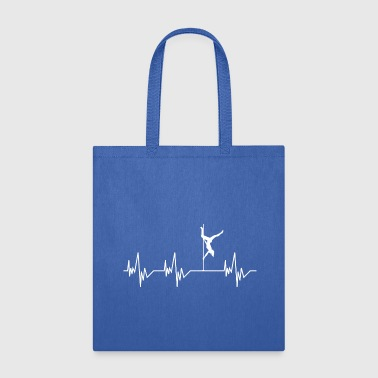 Heartbeat Pole Dance Dancing Dancer - Tote Bag