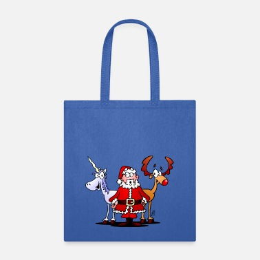 Santa, reindeer, unicorn - Tote Bag