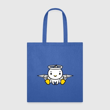 duck, bird, chick, angel, heaven, sitting, dead, d - Tote Bag