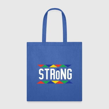 Blackgirls Rock Strong - Tribal Design (White Letters) - Tote Bag