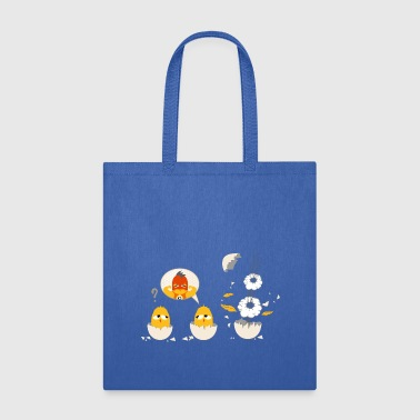 little chick as a superhero - Tote Bag