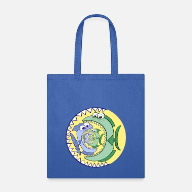 Food Chain Weird food chain of voracious fishes - Tote Bag