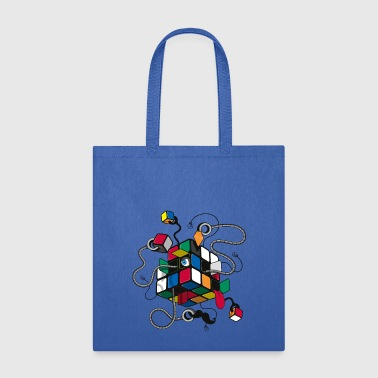 Rubik's Cube Illustrated - Tote Bag
