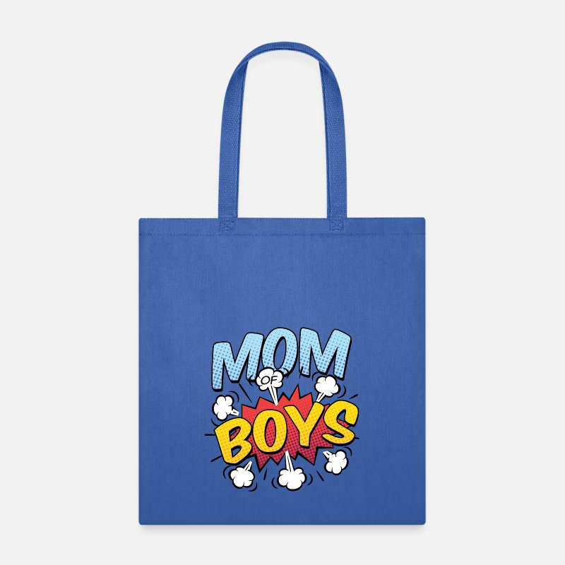 Awesome Bags & backpacks - Mom of Boys Comic Style - Tote Bag royal blue