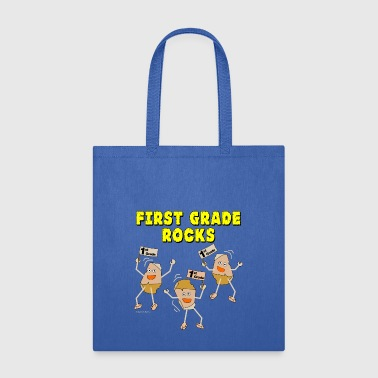 First Grade Rocks Light - Tote Bag