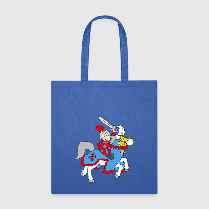 Boy Knight on a Horse - Tote Bag