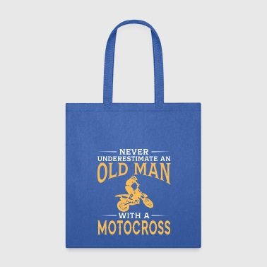 funny An Old Man With A Motocross - Tote Bag