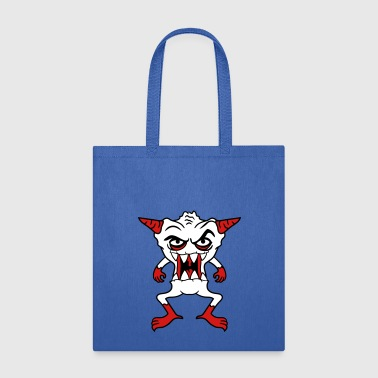 monster demon hell devil satan laugh eat horror ev - Tote Bag