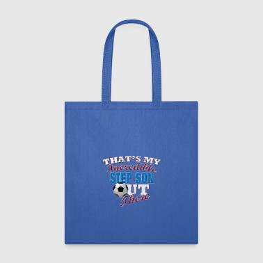 Step Mom Soccer Step Son Gift for Step Mom & Dad - Tote Bag