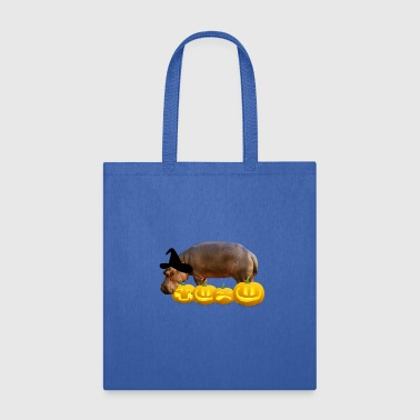 Halloween hippo Witch Hat Jackolanterns - Tote Bag