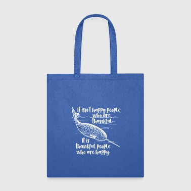 Motivational Thankful Narwhal - Tote Bag