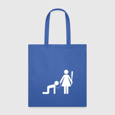 Domina A Woman Holds A Man As A Slave - Tote Bag