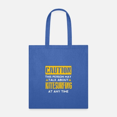 Caution CAUTION - Kitesurfing Fan - Tote Bag