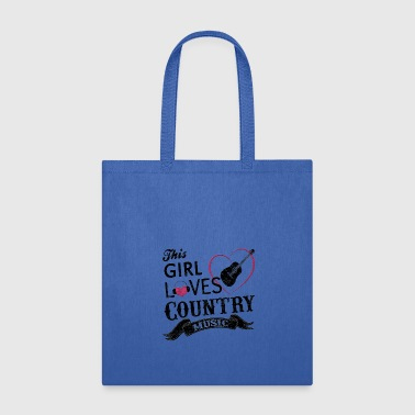 This Girl Loves Country Music Shirt Cowboy Guitar - Tote Bag