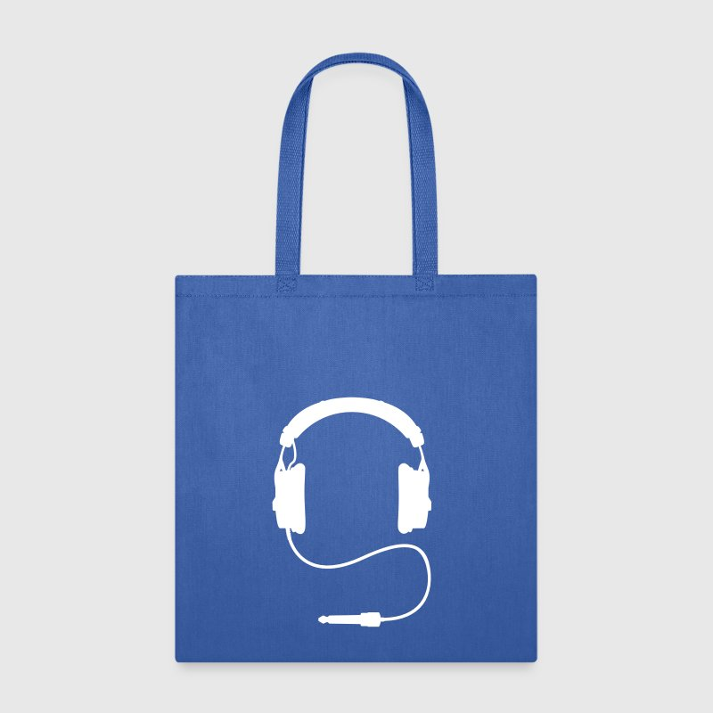 headphone plug DJ sound club music bass - Tote Bag