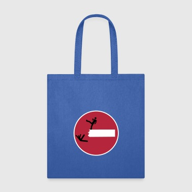 Road Sign THIS IS SPARTA Satire 3c - Tote Bag