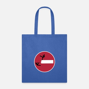 Satire Road Sign THIS IS SPARTA Satire 3c - Tote Bag