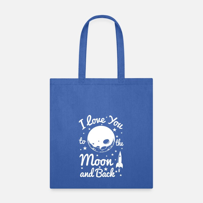 Love Bags & backpacks - I Love You To The Moon - Tote Bag royal blue