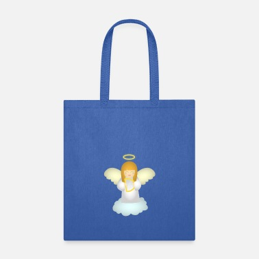 Guardian cute guardian angel with harp - Tote Bag