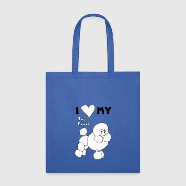 i heart my toy poodle - Tote Bag