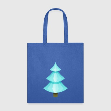 Ice Christmas tree spruce New Year vector image - Tote Bag