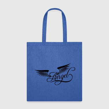 Liechtenstein tattoo wing design angel shirt saying angel love i - Tote Bag