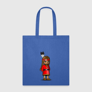 indian squaw girl sweet cute child baby - Tote Bag