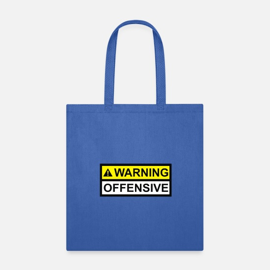 Offensive Bags & Backpacks - Warning Offensive - Tote Bag royal blue