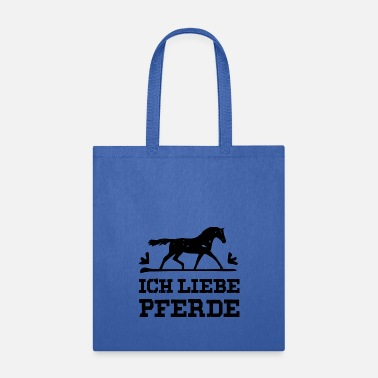 Mare I love horses black - Tote Bag