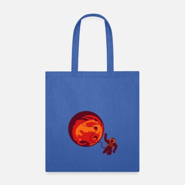 Marshall Islands tube astronaut cosmos cosmonaut spaceman spaceship - Tote Bag
