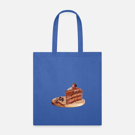 Cuisine Bags & Backpacks - Chocolate Cake - Tote Bag royal blue